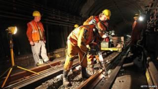 trabalhadores do metrê londrino | Getty