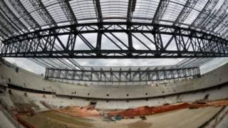 Estádio de Curitiba está 90% concluído / Crédito da foto: AFP
