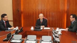 Ông Nguyễn Phú Trọng trong cuộc điện đàm