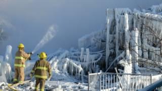 Kebakaran di Quebec