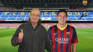 Lalo con Messi