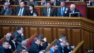 Ukrayna parlamentosunda oylama