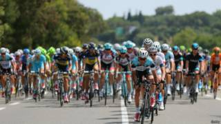 ciclistas no Tour de France | Getty