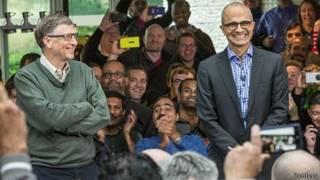 Bill Gates y Satya Nadella.