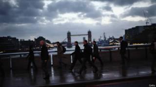 Лондонские пешеходы