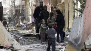 Warga sipil di Homs