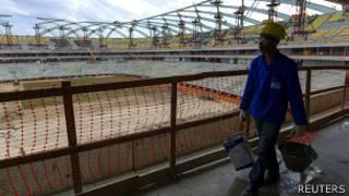 Estadio en construcción en Manaus