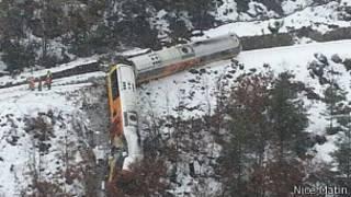 Accidente de tren en Francia