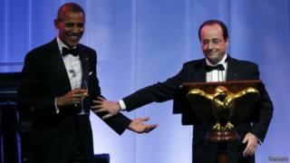 Обама и Олланд