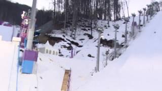 Neve derretendo em Sochi. Foto: BBC