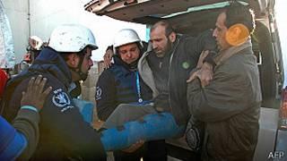 Hombre herido en Siria