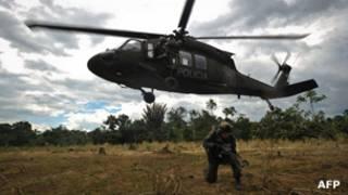 Operación antinarcóticos en Colombia