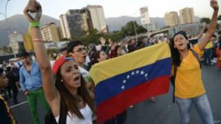 Manifestações de estudantes em Caracas | Foto: AFP