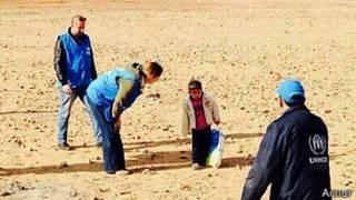 Marwan y los trabajadores de la ONU