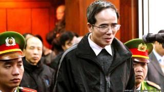 Ông Lê Quốc Quân tại tòa hôm 18/2/2014