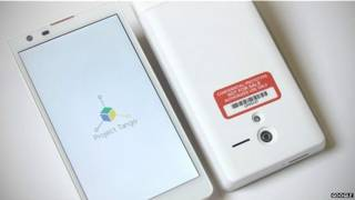 गूगल का 3-डी स्मार्टफ़ोन टैंगो