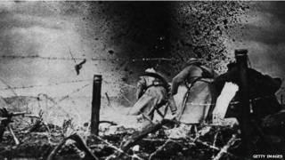 प्रथम विश्व युद्ध का दृश्य