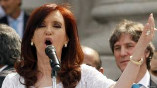 Cristina Kirchner em discurso neste sábado | Foto: Reuters