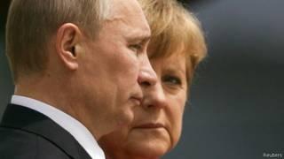 Angela Merkel e Vladimir Putin (Reuters)