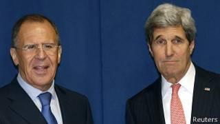 Lavrov y Kerry en Roma