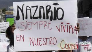 Foto de archivo. Apoyo a Nazario Moreno.