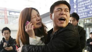 Keluarga penumpang Cina
