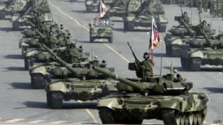 Репетиция военного парада на Красной площади