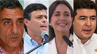 Líderes oposición venezolana