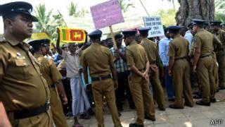 Protesta en Sri Lanka
