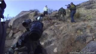 न्यू मैक्सिको में बेघर इंसान को पुलिस ने मारी गोली