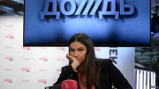 """Гендиректор телеканала """"Дождь"""" Наталья Синдеева на пресс-конференции"""