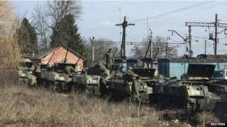 Российские части на границе с Украиной