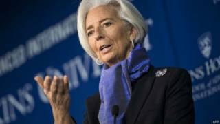 Christine Lagard, do FMI. Foto: AFP