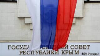 Bandera rusa en Crimea