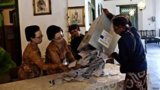 इंडोनेशिया में मतगणना