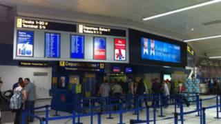 曼徹斯特機場登機口