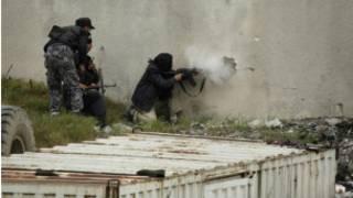 مقاتلون معارضون في حلب