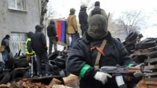 ရုရှားလိုလားသူတွေက ရဲစခန်းကိုစီးနင်းသိမ်းပိုက်