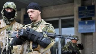Grupos pro rusos en Sloviansk