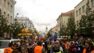 Гей-парад в Вильнюсе, 2013 год.