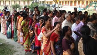 पश्चिम बंगाल में मतदान