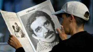 Periódico con foto de Gabriel García Márquez