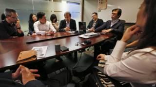 हाँगकाँग में 'ऑक्युपाई सेंट्रल'  के सदस्य