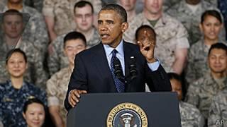Barack Obama en Yongsan, guarnición del ejército en Seúl