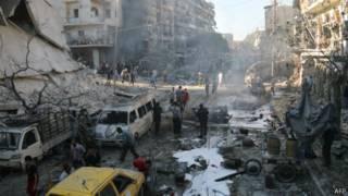 Рынок в районе Халак в Алеппо