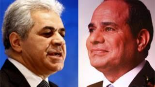 مرشحا للانتخابات الرئاسية المصرية السيسي وصباحي