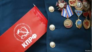 Медали на груди ветерана, Ставрополь. 1 мая 2014 года