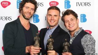 Gary Barlow, Howard Donald and Mark Owen do Take That | Crédito: PA