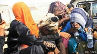 Migrantes en Libia