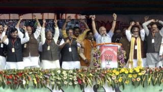 बिहार में मोदी और अन्य नेता